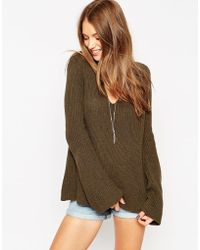 Asos Oversized Boyfriend Bell Sleeve Knitted Jumper <br> unit price £3.00