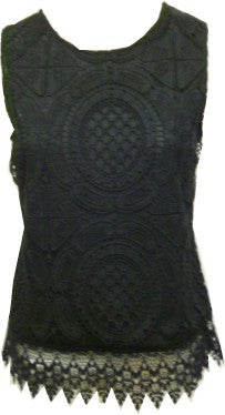 Lace front sleeveless top <br> colour options <br> unit price £3.00