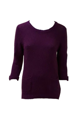 Purple boucle jumper <br>unit price £3.25