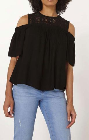 ex DP lace cold shoulder top <br> unit price £2.95