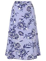 ex Eastex lilac floral printed panelled skirt <br> unit price £2.95