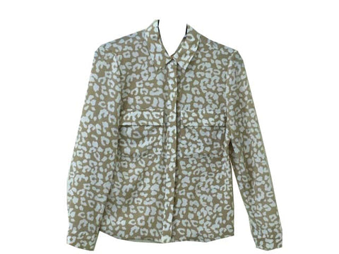 Leopard print blouse <br> unit price £2.50