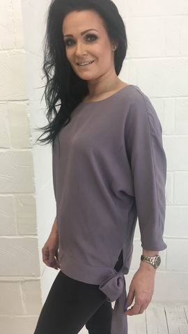 ex Dunnes lilac side tie top <br> unit price £2.95