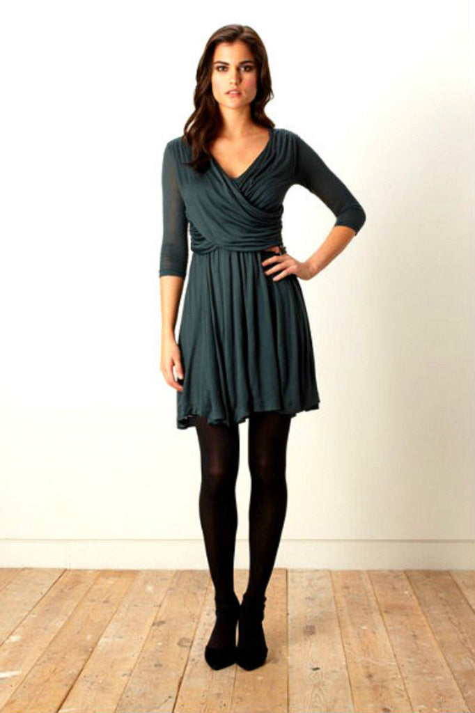 Pine green jersey dress <br> unit price £6.00