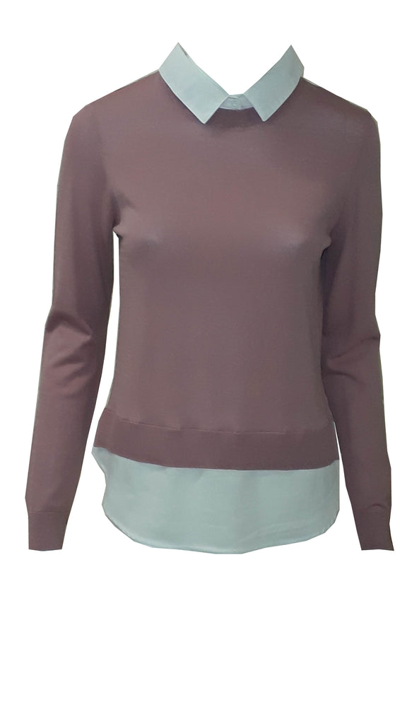 Faux 2 in 1 shirt jumper <br> unit price £3.95