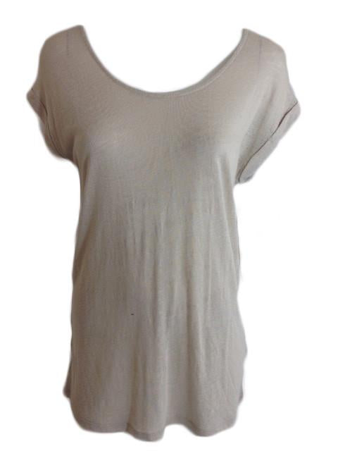EX M&S Linen blend t shirt sand <br> NEW price £1.50