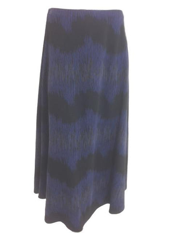 ex per una purple & black flared midi skirt <br> unit price £3.95