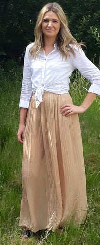 Pleated maxi skirt in 6 colours <br> unit price £1.25