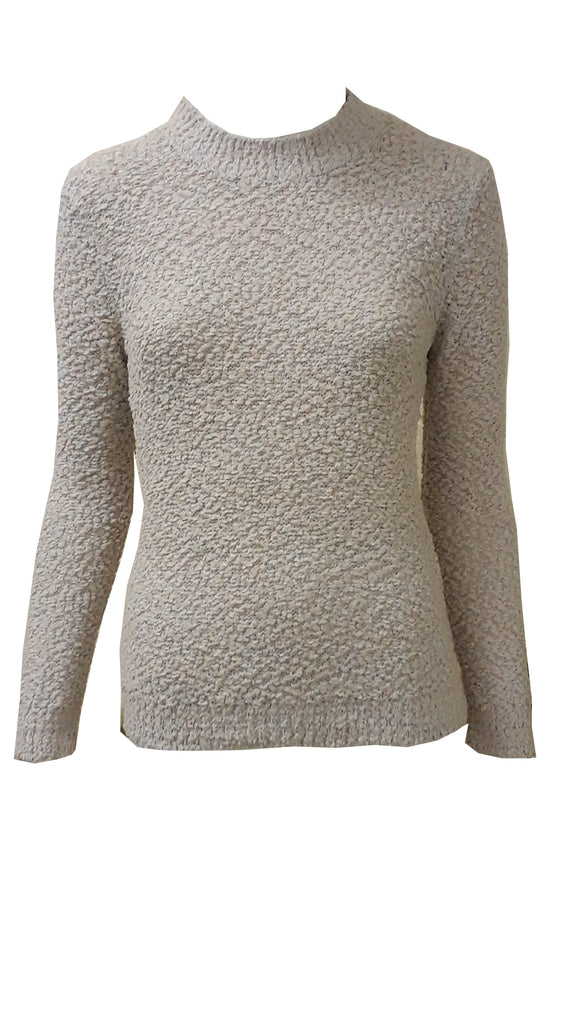 ex M&S boucle long sleeve jumper <br>unit price £3.25