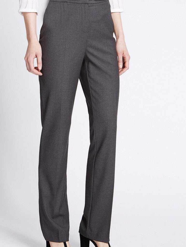 EX M&S grey flat front straight leg trouser <br> unit price £3.00