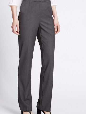 grey flat front straight leg trouser <br> unit price £3.25