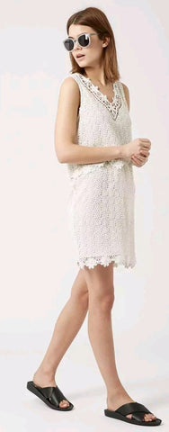 ex topshop cream crochet dress <br> new price £4.25