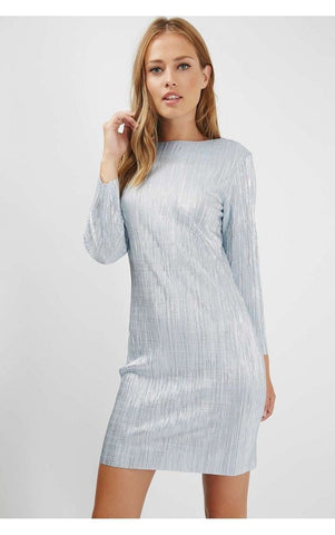 Topshop Metallic Blue Sparkly Plisse Dress <br> new price £1.95