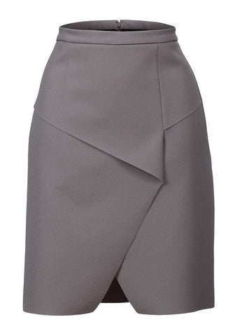 Topshop Origami Scuba Wrap Grey Skirt <BR> unit price £2.25