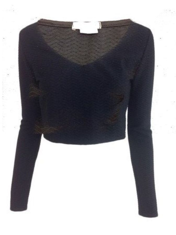 Urban Outfitters Textured Crop Top <br> unit price £2.00