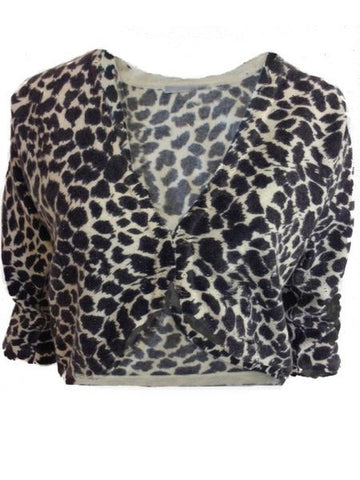 ex Wallis Animal Print Bolero Cardigan <br> unit price £3.50