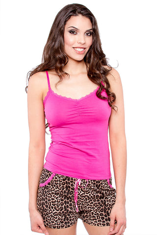 Short & Comfy 2-Piece Tank Top Pajama Set Pajama - Lingerie Basement