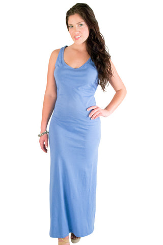 Blue Long Maxi Dress Dresses - Lingerie Basement