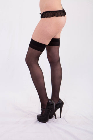 Sheer Thigh Highs Lingerie - Lingerie Basement