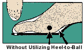 002b42786b Improperly fitted shoes (shown right) can cause a variety of foot problems  in addition to general discomfort and shoe breakdown.