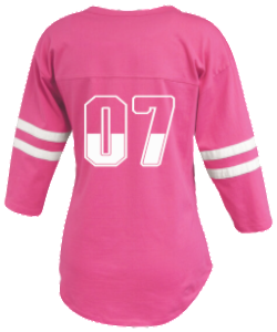 Ladies Ralley Jersey with long tail and stripped sleeves