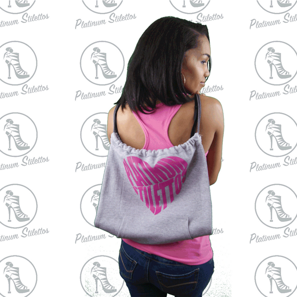 Platinum Stilettos Heart Back Pack