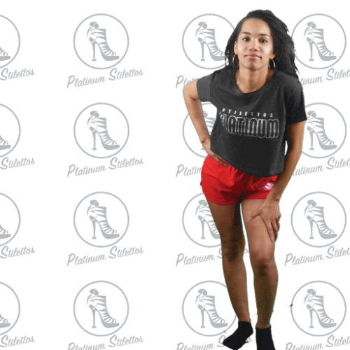 Platinum Stilettos Sport Logo Shorts - Platinum Stilettos , , Platinum Stilettos - Ladies Activewear, Graphic Tees, Sweatshirts, Leggings, gym wear and more
