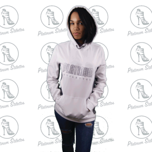 Platinum Stilettos Bling Moisture Wicking Hoodie - Platinum Stilettos , MOISTURE WICKING HOODIE,, Platinum Stilettos - Ladies Activewear, Graphic Tees, Sweatshirts, Leggings, gym wear and more