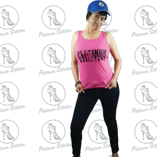 Platinum Stilettos Bling Shoe Relaxed Tank - Platinum Stilettos , graphe tee, ladies fitted tank, Ladies graphic tank, Platinum Stilettos - Ladies Activewear, Graphic Tees, Sweatshirts, Leggings, gym wear and more