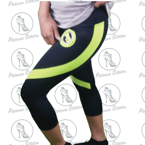Platinum Stilettos Sport Spandex Capri Pant - Platinum Stilettos , , Platinum Stilettos - Ladies Activewear, Graphic Tees, Sweatshirts, Leggings, gym wear and more
