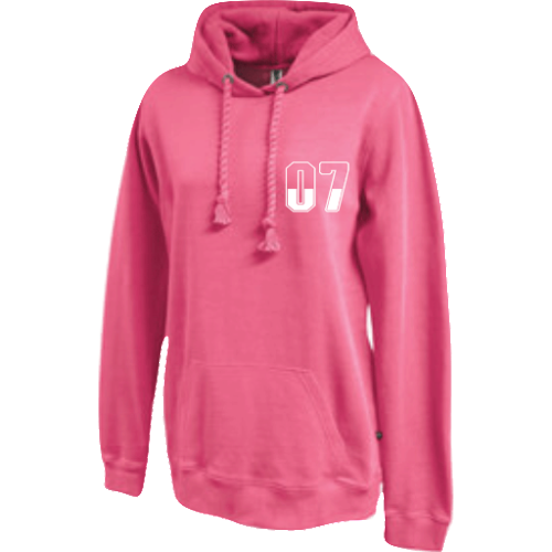 Oversized ladies fleece pull over hoodie