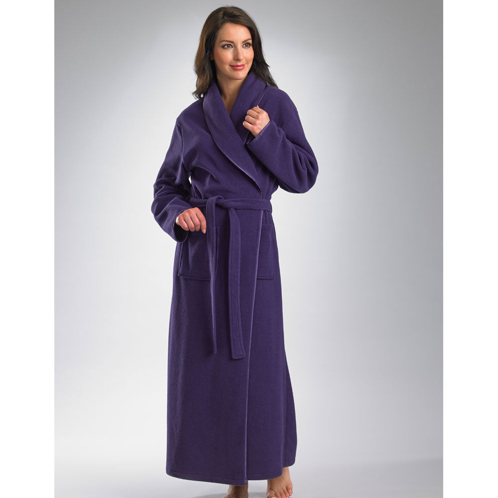 "52"" Long Sleeve Shawl Collar Housecoat"