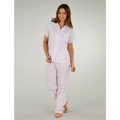 Short Sleeved Seersucker Tailored Pyjama