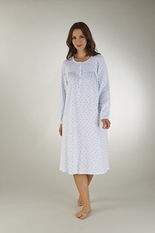 "42"" Long Sleeve Round Neck Nightdress"