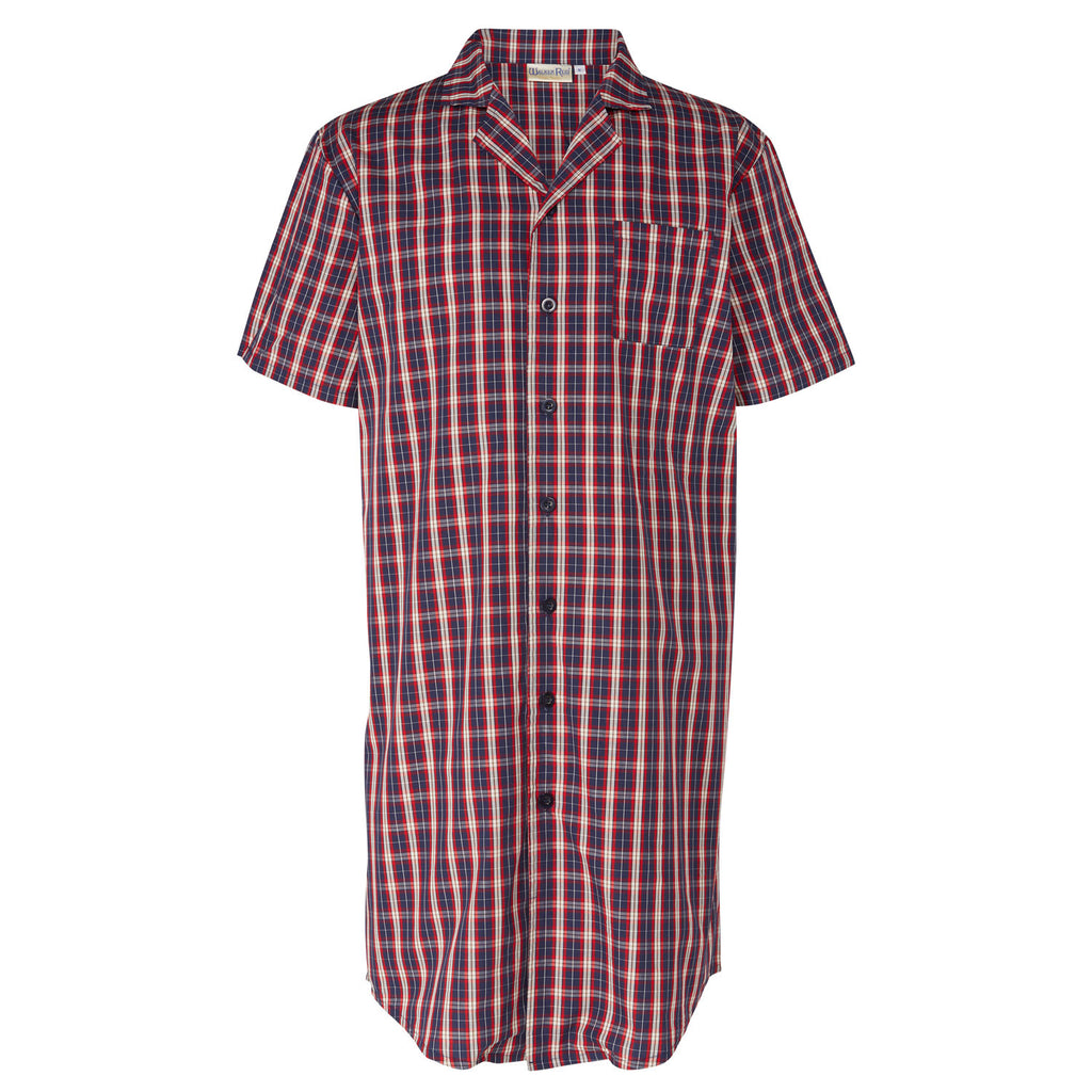 Walker Reid Men's Nightshirt in Navy