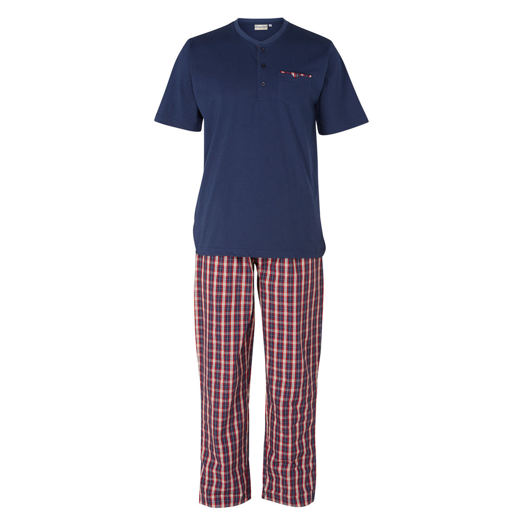 Walker Reid Mens' Pyjamas in Navy