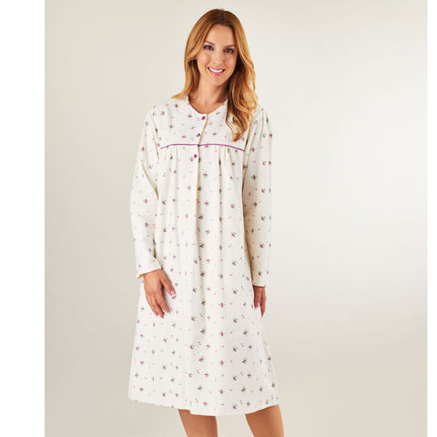 Winceyette Long Sleeved Roll Neck 43inch Nightdress