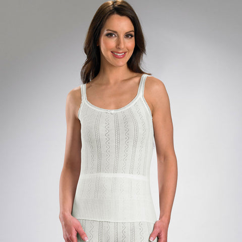Fancy Knit Thermal French Neck Camisole
