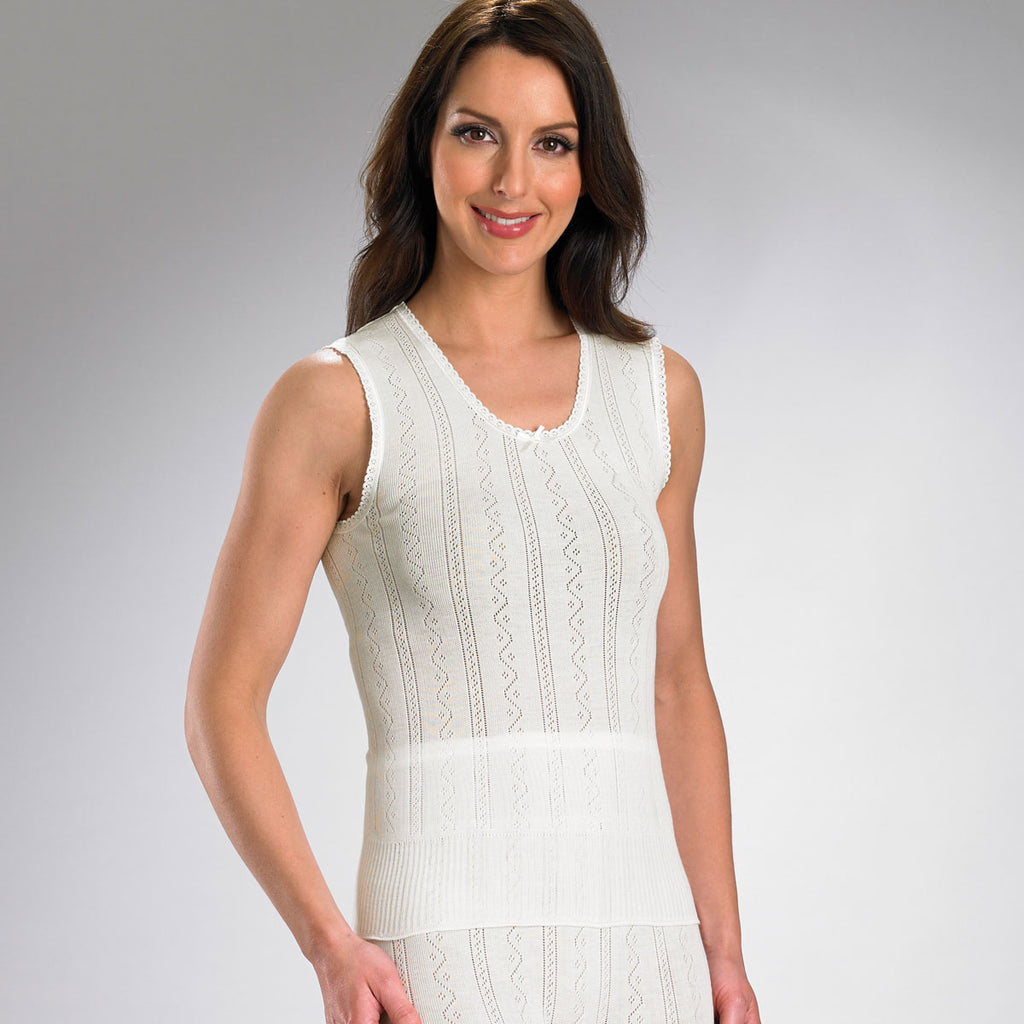 Brettles Fancy Knit Thermal No Sleeve Camisole