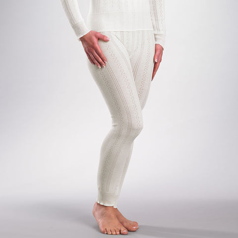 Fancy Knit Thermal Ankle Pant