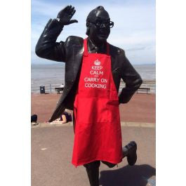 Keep Calm And Carry On Cooking Apron  (TA009)