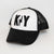 Felt letter KY Bolt Trucker (White/Black)