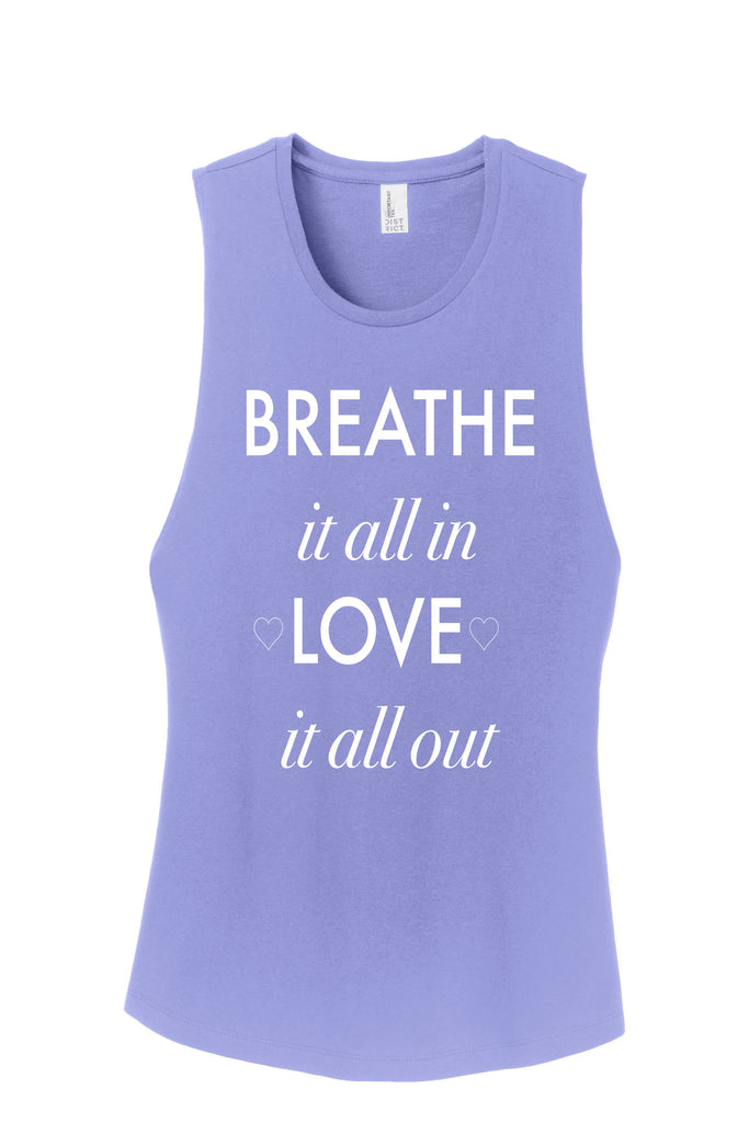 Breathe Muscle Tank-White