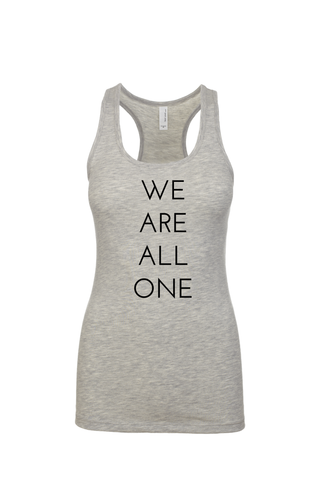 """We are all One"" tank"