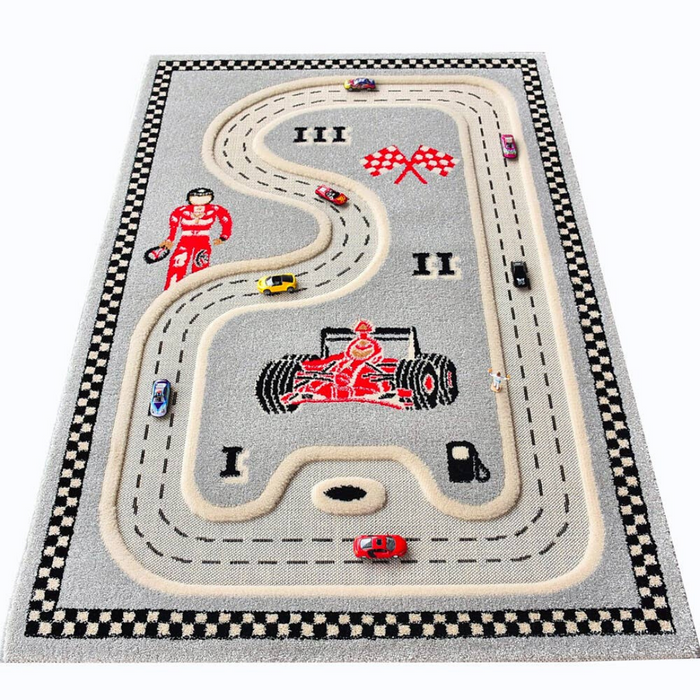 IVI 3D Play Carpet - Racer Grey