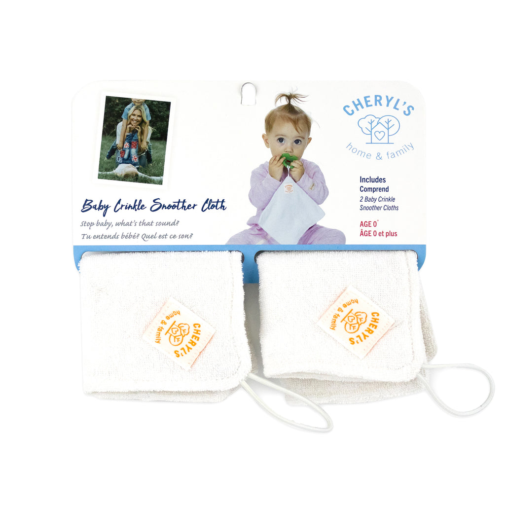 Cheryls' Home and Family Baby Crinkle Soother Cloth (2 Pack)