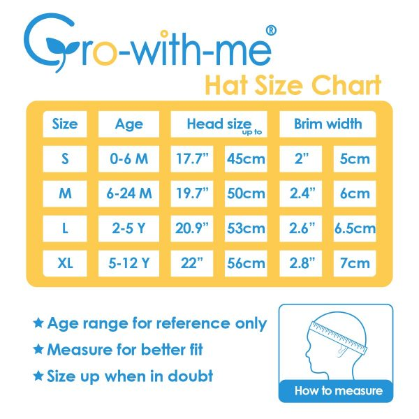 Grow with Me Floppy Hat - 50+ UPF
