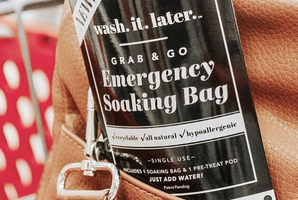 Wash It Later Grab & Go Emergency Soak & Save Bags
