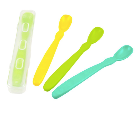Re-Play Infant Spoons 4 Pack + Travel Case