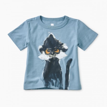 Tea Collection Langur Baby Graphic Tee
